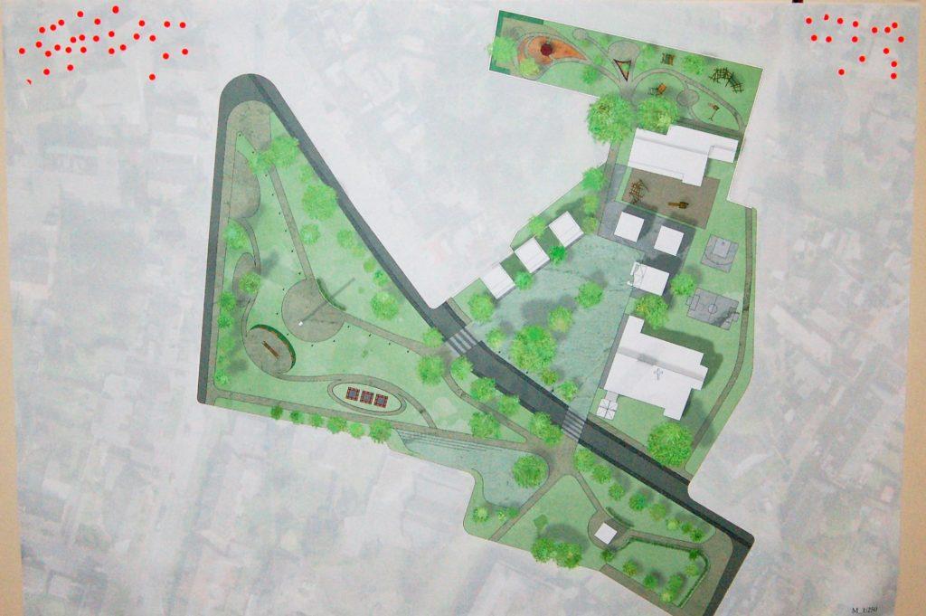 Das grüne Ortszetrum vergrößert, für Fußgänger und als Einheit