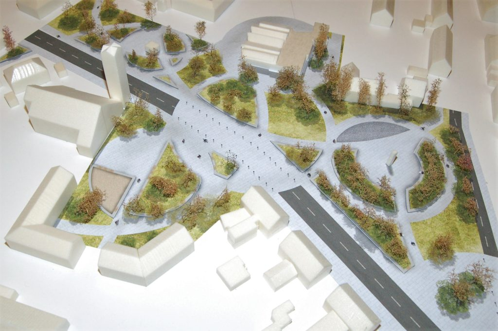 Modell von Bachems grünem Ortszentrum