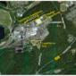 Brikettfabrik Wachtberg mit geplanten Lagerflächen, Schaubild: RWE