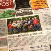 Foto von der Titelseite der Sonntagspost vom 10. Juni 2017