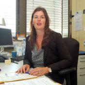 Susanne Dettlaff im Gespräch mit Frechenschau in ihrem Büro in der Stadtverwaltung Frechen.
