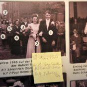 Foto vom Maifest 1948 mit identifizierten und noch nicht identifizierten Personen
