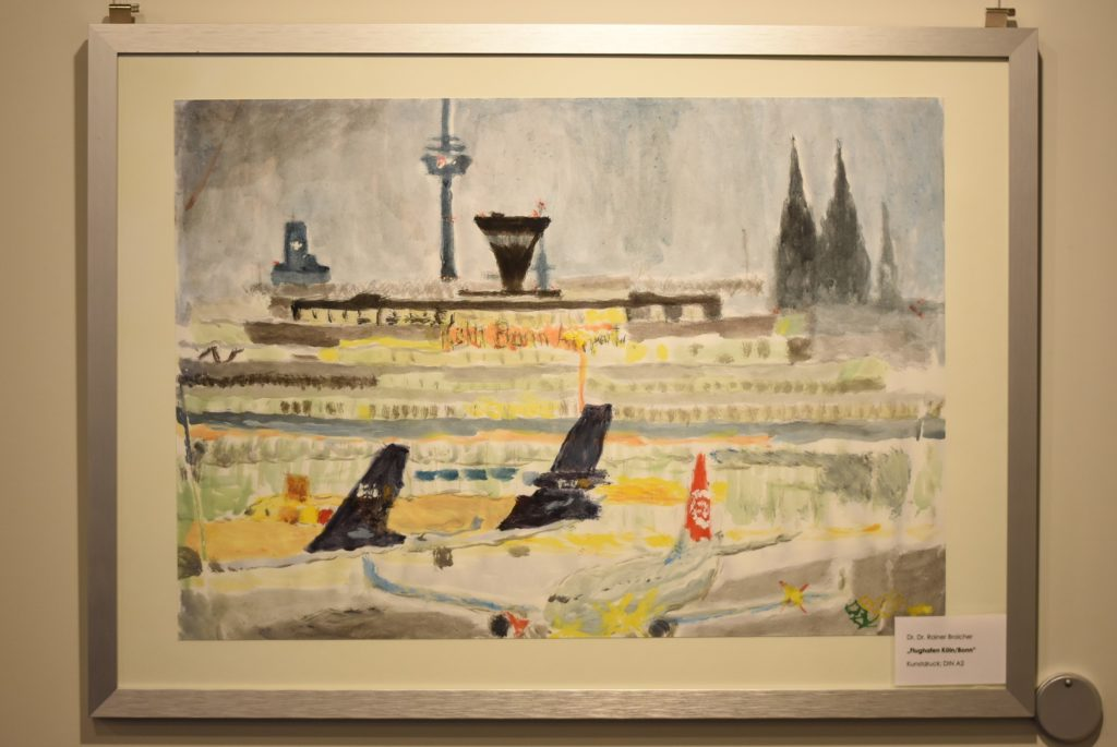"Kunstdruck, Din A2: Dr. Dr. Rainer Broicher, ""Flughafen Köln/Bonn"""