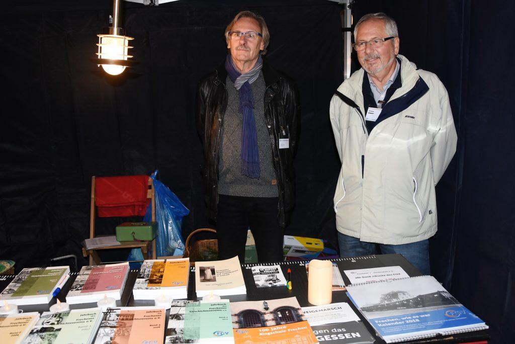 Frechener Geschichtsverein, Hubert Bühr, Wolfgang Glaser, Foto: Frechenschau.de