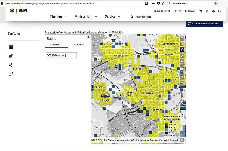Telekom Glasfaserausbau Karte.Frechener Unternehmer Beklagen Lücken In Der Breitbandversorgung