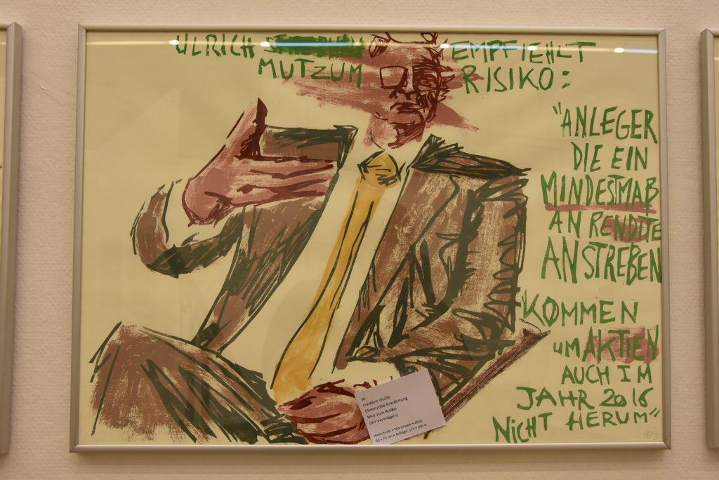 """Frédéric Guille, """"Mut zum Risiko"""" aus der Serie """"Ihr Vermögen"""" (2016), ehrenvolle Erwähnung zur 18. Grafik-Triennale Frechen"""