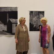 Geschäftsführender Vorstand des Kunstverein zu Frechen bei der Vorbesichtigung der 18. Grafik-Triennale Frechen