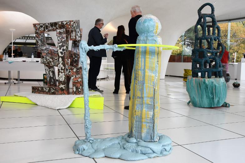 Objektgruppe von David Rauer beim Frechener Keramikpreis 2018 im Keramion