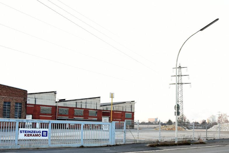 Geräumtes Gelände der Steinzeug Keramo GmbH