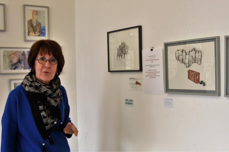 Angelika Schneeberger in ihrem Atelier im Kunstzentrum Signalwerk