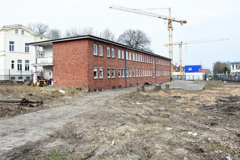 Kunstzentrum Signalwerk, Baustelle von Hochstedenstraße aus