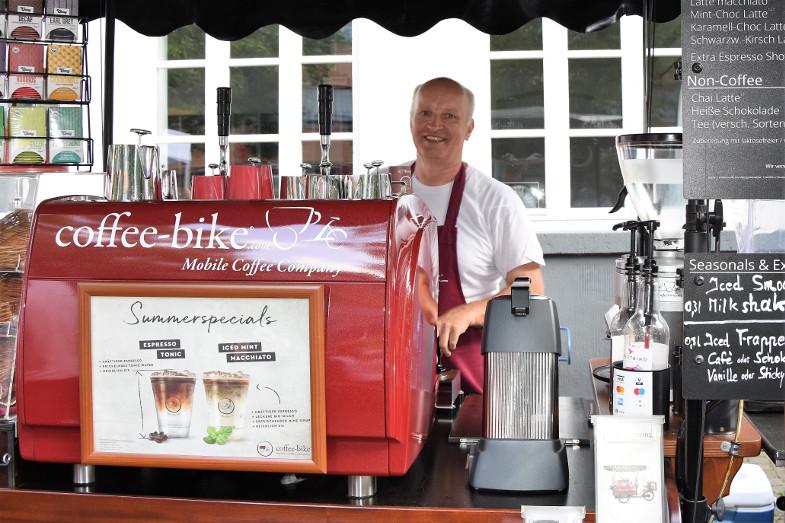 coffe-bike von Wolfgang Wahl beim Schlemmer- und Abendmarkt