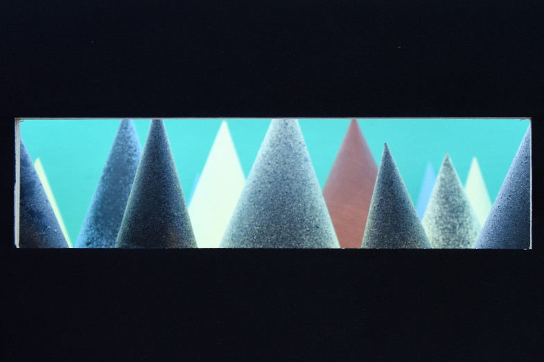 """Miniaturbühnenbild ohne Titel von Dietmar Teßmann - Ausstellung """"PLACE TO BE"""" - Kunstverein zu Frechen"""