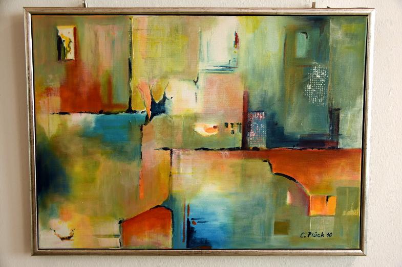 Christian Plück, abstraktes Bild, Ausstellung Querschnitte