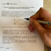Vordruck für das Votum zur Übertragung von Entscheudungskompetenzen vom Rat auf den Hauptausschuss in Frechen