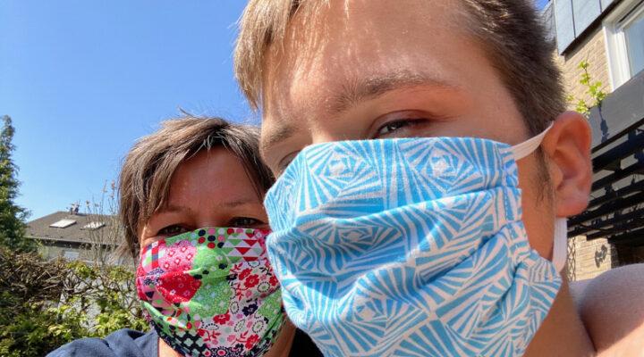 Alltagsmasken wie diese genügen der Maskenpflicht