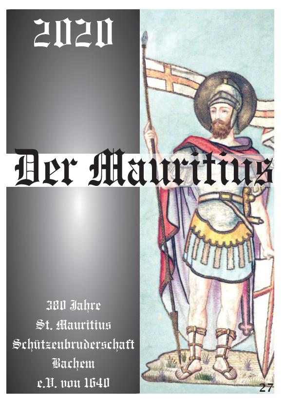 Vereinszeitung der Mauritiusschützen Bachem