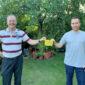 Clement Audard und Bürgermeisterkandidat Carsten Peters