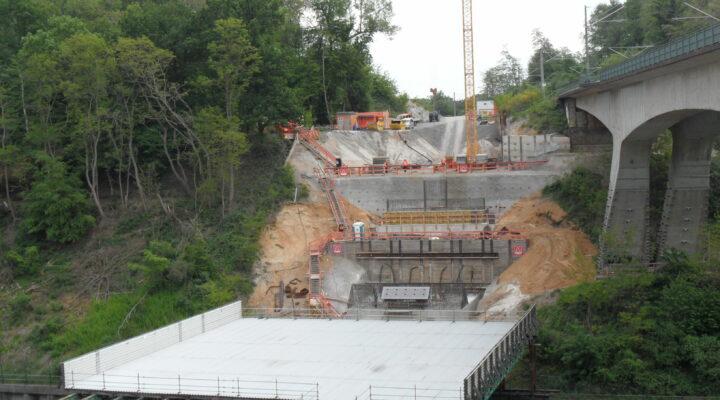 Baustelle Eisenbahnbrücke für Autobahnanschluss Frechen-Königsdorf