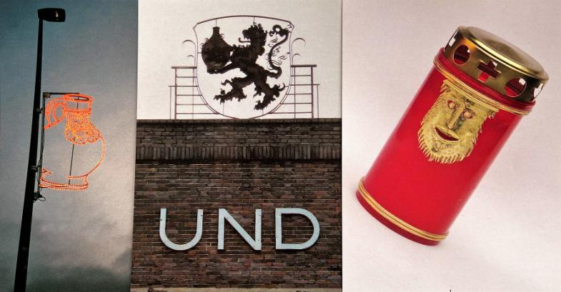 art-bart-cards der Jahre 2010, 2011, 2017 von Rose Schreiber und Michael Mayr, Collage: Susanne Neumann