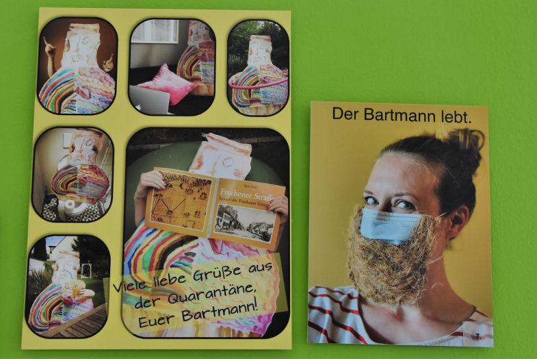 Beitrag von Anna und Carla Kölzer zur Bartmannkrug-Ausstellung im Keramion